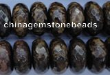 CBZ68 15.5 inches 10*20mm faceted rondelle bronzite gemstone beads