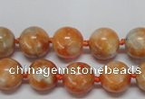 CCA452 15.5 inches 8mm round orange calcite gemstone beads