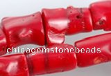 CCB06 15.5 inches 15*20mm irregular red coral beads Wholesale
