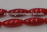 CCB137 15.5 inches 5*13mm rice red coral beads strand wholesale