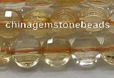 CCB703 15.5 inches 6mm faceted coin citrine gemstone beads