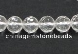 CCC209 15.5 inches 10mm faceted round grade AB natural white crystal beads