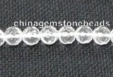 CCC252 15.5 inches 8mm faceted round grade A natural white crystal beads