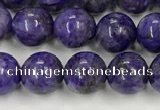 CCG310 15.5 inches 6mm round dyed charoite beads wholesale