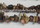 CCH204 34 inches 3*5mm red leopard skin jasper chips beads wholesale