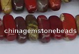CCH716 15.5 inches 5*10mm - 5*15mm apple jasper chips beads