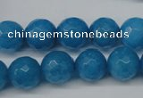 CCN1204 15.5 inches 12mm faceted round candy jade beads wholesale