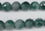 CCN1285 15.5 inches 12mm faceted round rainbow candy jade beads