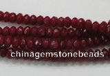 CCN1351 15.5 inches 3*5mm faceted rondelle candy jade beads