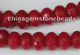 CCN153 15.5 inches 8*12mm faceted rondelle candy jade beads