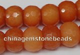 CCN162 15.5 inches 12*16mm faceted rondelle candy jade beads