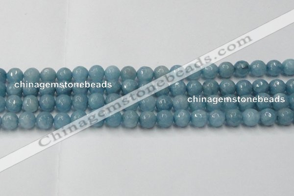CCN2019 15 inches 12mm faceted round candy jade beads wholesale