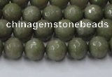 CCN2023 15 inches 6mm faceted round candy jade beads wholesale