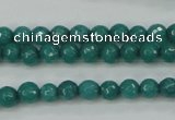 CCN2279 15.5 inches 6mm faceted round candy jade beads wholesale