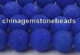 CCN2513 15.5 inches 14mm round matte candy jade beads wholesale