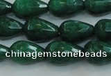 CCN3012 15.5 inches 10*15mm faceted teardrop candy jade beads