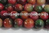 CCN4001 15 inches 6mm faceted round candy jade beads wholesale