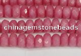 CCN4155 15.5 inches 5*8mm faceted rondelle candy jade beads