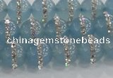 CCN4616 15.5 inches 8mm round candy jade with rhinestone beads