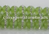 CCN4620 15.5 inches 6mm round candy jade with rhinestone beads