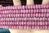 CCN5140 15 inches 5*8mm faceted rondelle candy jade beads
