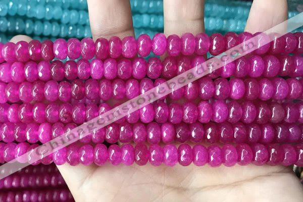 CCN5142 15 inches 5*8mm faceted rondelle candy jade beads