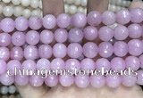 CCN5796 15 inches 10mm faceted round candy jade beads