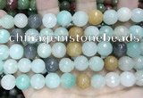 CCN5830 15 inches 10mm faceted round candy jade beads