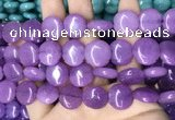CCN5876 15 inches 15mm flat round candy jade beads Wholesale