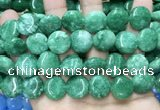 CCN5907 15 inches 15mm flat round candy jade beads Wholesale