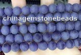 CCN6362 15.5 inches 6mm, 8mm, 10mm & 12mm round matte candy jade beads