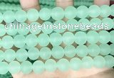 CCN6365 15.5 inches 6mm, 8mm, 10mm & 12mm round matte candy jade beads