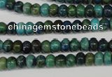 CCS150 15.5 inches 4*6mm rondelle dyed chrysocolla gemstone beads