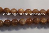 CCS372 15.5 inches 8mm round AA grade natural golden sunstone beads