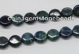 CCS62 16 inches 8mm flat round dyed chrysocolla gemstone beads