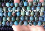 CCS896 15 inches 12mm round natural chrysocolla gemstone beads