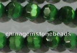 CCT380 15 inches 8mm faceted round cats eye beads wholesale