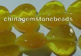 CCT991 15 inches 18*18mm faceted heart cats eye beads wholesale