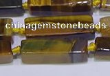 CCU618 15.5 inches 8*20mm - 10*30mm cuboid yellow tiger eye beads