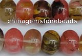 CCY203 15.5 inches 13*18mm rondelle volcano cherry quartz beads