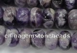 CDA19 15.5 inches 10*14mm rondelle dogtooth amethyst quartz beads