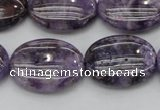 CDA302 15.5 inches 18*25mm oval dyed dogtooth amethyst beads