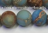 CDE1033 15.5 inches 10mm round matte sea sediment jasper beads