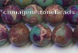 CDE1036 15.5 inches 6mm round matte sea sediment jasper beads