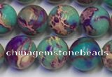 CDE1057 15.5 inches 8mm round sea sediment jasper beads wholesale