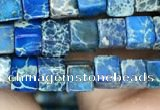 CDE1204 15.5 inches 4.5mm - 5mm cube sea sediment jasper beads