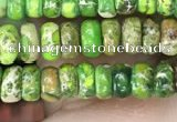 CDE1258 15.5 inches 2.5*4mm rondelle sea sediment jasper beads