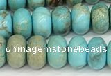 CDE1401 15.5 inches 5*8mm rondelle sea sediment jasper beads