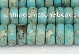 CDE1403 15.5 inches 2.5*6mm rondelle sea sediment jasper beads