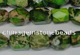 CDE155 15.5 inches 10*12mm faceted nugget dyed sea sediment jasper beads